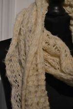 ACCESSORIZE CREAM CHUNKY KNITTED SNOOD /  COWL NECK SCARF NEARLY NEW
