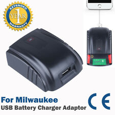 Mobile Phone USB Charger Adaptor for Milwaukee C18B, C18 B,M18 Battery Pack