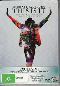 Michael Jackson This Is It - 2 Disc Collectable Steel Book - DVD R4 New & Sealed