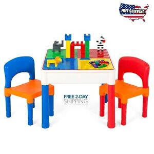 LEGO Kids Table and Chairs Play Set Toddler Child Toy Activity In-Outdoor