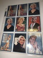 Lot Of 9 Marilyn Monroe Trading SPORTS Time Cards LOT Vtg COLLECTOR