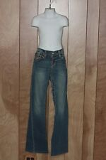 GIRL'S TRUE RELIGION JOEY RAINBOW DENIM JEANS-SIZE: 14
