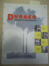Uvalde Rock Asphalt Co Catalog~Duarco~Asbestos~Industrial Tile~Azrock Flooring