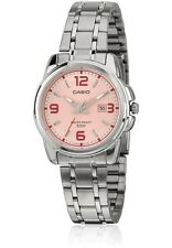 Casio LTP1314D-5A Ladies Stainless Steel PINK Dial Dress Watch 50M NEW