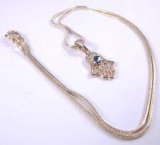 Hamsa Judaica Necklace Pendant Kabbalah Lucky / Evil Eye Hand Of Fatima Gold