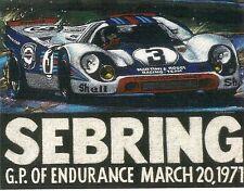 917 PORSCHE ILLUSTRATION * 1971 SEBRING WINNER *  WILLIAM BURROWS ILLUSTRATOR