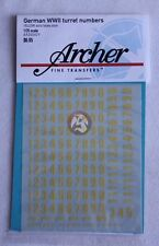 Archer 1/35 German WWII Turret Numbers Medium Solid (Yellow) AR35042Y