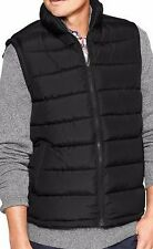 NWT GAP MEN Large  Black  Warmest Quilted Puffer Vest Sleeveless Coat Zip Jacket