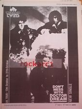 THOMPSON TWINS Don't Mess With Dr Dream 1985 UK Poster size Press ADVERT 16x12""