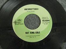 """Nat King Cole unforgettable - 45 Record Vinyl Album 7"""""""