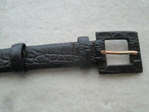 MAX MARA main line, BELT, leather, MOCK CROC, choc, immaculate, Small, Italy