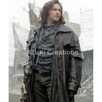 Gothic Duster Leather Coat - Van Helsing Legendary Vampire Steampunk Coat Jacket
