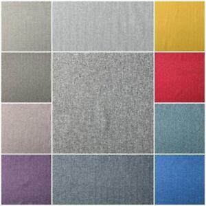 High Quality Herringbone Tweed Wool Like Woven Upholstery Curtain Cushion Fabric