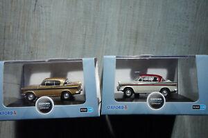 2 x Oxford Diecast Sunbeam Rapier mk3 cars New