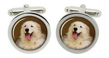 Kuvasz Dog Cufflinks in Chrome Box