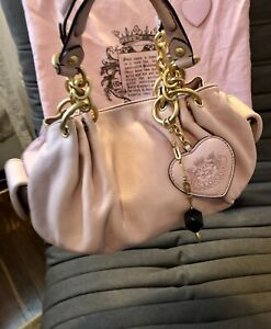 Vintage JUICY COUTURE Pink Leather Baby Fluffy