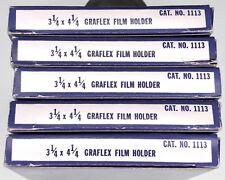 5 Piece Graflex 3.35 x 4.25in Film Holders ............ LN