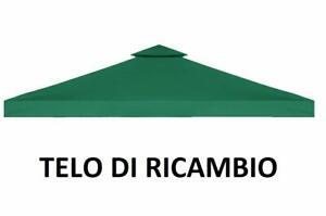 TOP TELO COPERTURA VERDE DI RICAMBIO PER GAZEBO MT 3x3 CON AIRVENT IMPERMEABILE
