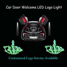 2x Middle Finger Skull Logo Car Door Welcome Laser Projector Shadow LED Light
