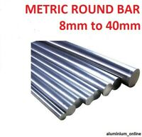 ALUMINIUM METRIC ROUND BAR 5mm 8mm 10mm 15mm 20mm 25mm 30mm 35mm 40mm