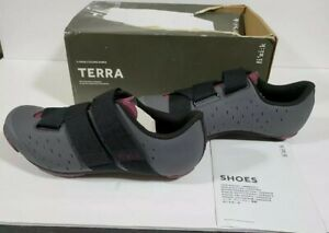 Fizik Terra Powerstrap X4 - Anthracite/Grape Cycling Shoes Size 5 1/2 US NEW
