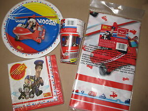POSTMAN PAT PARTY SET TABLE COVER NAPKINS CUPS PLATES BIRTHDAY BOYS NEW