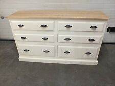 HAMPSHIRE PAINTED 6 DRAWER JUMPER CHEST (PAINTED PLINTH) /SOLID PINE - SOLID OAK
