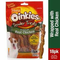 Hartz Oinkies Tender Treats Natural Smoked Chicken Twist Dog Treat Chews - 18...