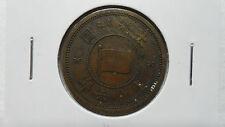 China Manchukuo 1 Fen Copper, KT 6 / 1939, VF, Key Date