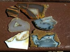 6 assorted Agate,  mixed slabs  6 oz