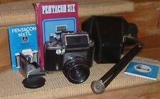 Pentacon six TL Mittelformat Kamera+Carl Zeiss MC Biometar 2.8/80 RedMC Objektiv