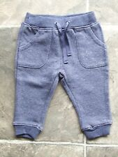 BNWT Baby Girl's Sparkly Navy Fleecy Trackpants/Pants Size 00