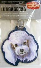 Poodle Luggage Tag for Purses, Golf Bags, Gym Bags, Back Pack Great Gift