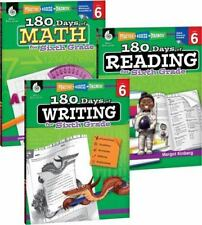 180 Days of Reading, Writing and Math for Sixth Grade 3-Book Set (Paperback or S
