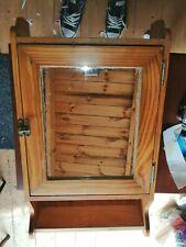 Vintage solid pine mirrored bathroom cabinat