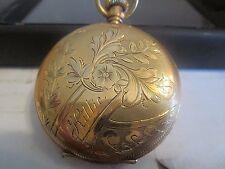Elgin 14k Gold Pocket Watch Size 6s ,Gr 45 Class 51 1888