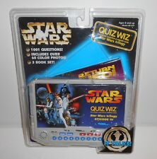 NOS 1997 Star Wars Quiz Wiz Trivia Game Tiger Electronics 3 Books 1001 questions