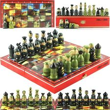 Themed Chess Set Russian Soviet vs German Armies World War II WW2