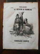 Partition Sheet Music 19 ème Siècle Le Devin du Hameau Donvé Eau Forte Levert