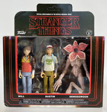 Funko Stranger Things Collectible Will Dustin Demogorgon 3.75� Figure 3 Pack