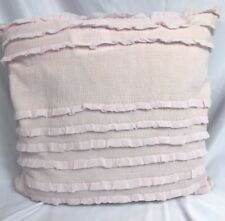 "DKNY Ruffled Texture Throw Pillow COLOR: LILAC DUST~SIZE 20""X20"" -NEW WITH TAG"