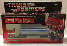 G1 1984 OPTIMUS PRIME • C8-9 • 100% COMPLETE • BOXED GENERATION ONE TRANSFORMER