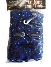 2 bolsas - Cuerdas tensoras color azul - reflectivas, para carpas y tiendas (8u)