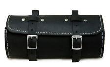Runde Schwarz Fahrrad Satteltasche echtem Leder Werkzeugtasche Werkzeugtas