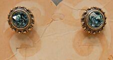 Brighton Regally Yours Earrings Blue Swarovski Crystal