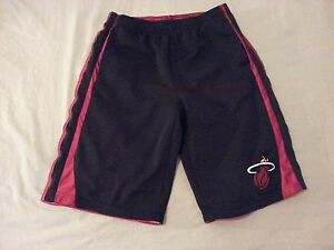 Boys NBA Miami Heat Shorts XL Black Athletic