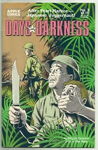 DAYS OF DARKNESS #3 (World War II War Comics, Pacific Theater) Apple, 1992