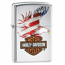 ZIPPO ACCENDINO HARLEY DAVIDSON 28082 USA FLAG*EAGLE COLOR*NEW*LIGHTER*OFFICIAL