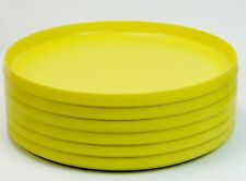 Vintage Oblique Stacking Yellow Plates Set of Six