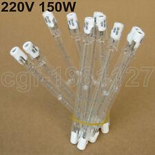 10 x 150W 150 WATT 220-240V Doubl Eanded Halogen Bulbs R7s 118mm Yellow Light